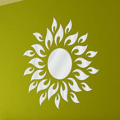 Acrylic Mirror Sun Decorative Shatterproof (Dining,Kitchen Bathroom Wall Mirror)