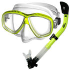 Scuba Dive and Snorkeling Purge Mask Dry Snorkel Gear Set