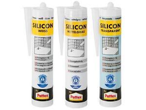 310ml pattex silikon silicon bausilikon wei transparent grau innen 9 51 1l ebay. Black Bedroom Furniture Sets. Home Design Ideas