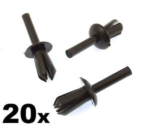 20x-BMW-5mm-Plastic-Trim-Clips-Rivets-Wheel-Arch-Liner-Lining-amp-Mouldings