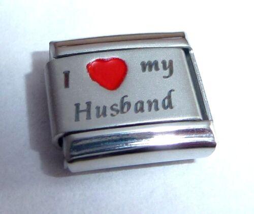 Me encanta mi marido encanto italiano-Corazón Rojo 9mm se adapta Classic Arrancador pulseras