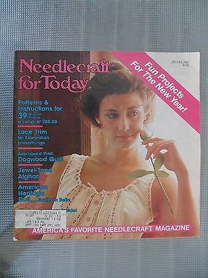 NEEDLECRAFT FOR TODAY 1983 Jan/Feb Patterns Crewel,Knit,crochet