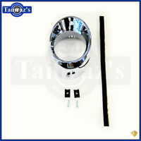 66-67 Chevelle Air Vent Heat A/c Dash Outlet Ball Bezel Only Chrome - Lh