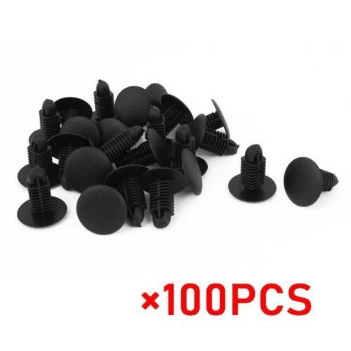 100pcs Auto 6mm Hole Dia Plastic Rivets Fastener Fender Bumper Push Pin Clips