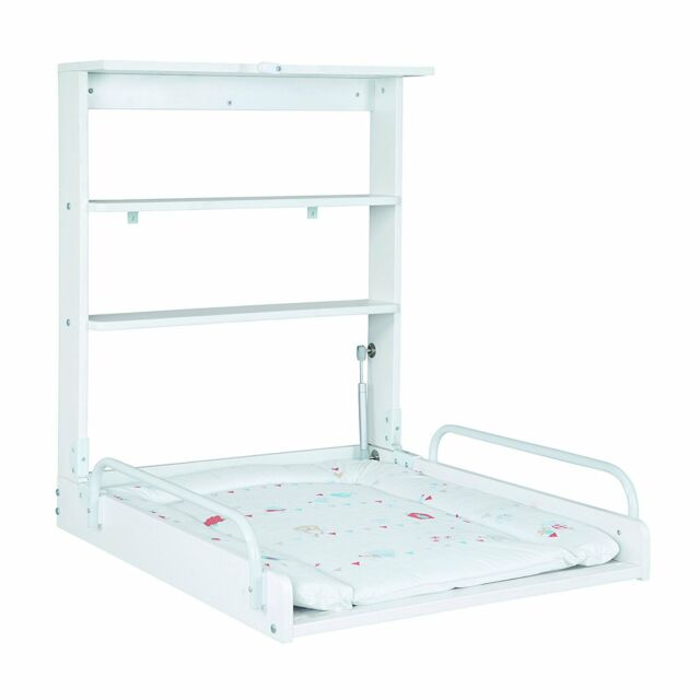 Baby Diaper Changing Table With Baby Mattress Foldable White Practical New