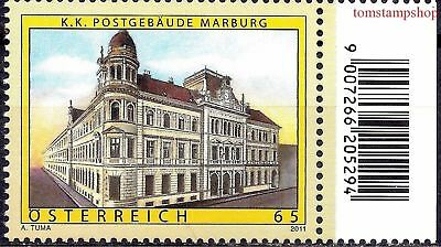Architecture Austria 2011 Old Austria Maribor Post Office Building Architecture 1v Mnh