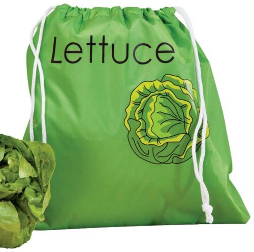 Walter Drake Lettuce Storage Bag Space Saver Bags Bright Green Finish NEW 3 pack