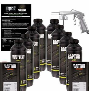U-POL-Raptor-Tintable-Urethane-Spray-On-Truck-Bed-Liner-Kit-w-Spray-Gun-8-Liter