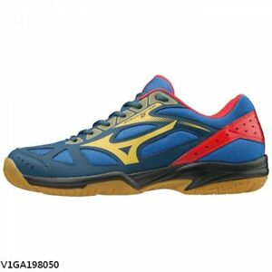 Mizuno-Cyclone-Speed-2-Blue-Yellow-Red-Men-Women-Volleyball-Shoes-V1GA198050
