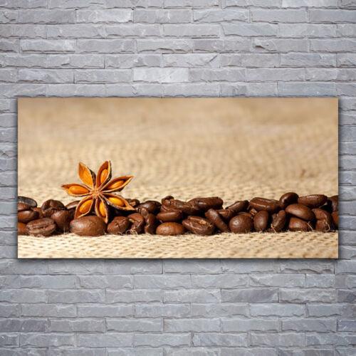 Glasbilder Wandbild Druck auf Glas 120x60 Kaffeebohnen Küche