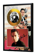 Johnny Cash Gold Vinyl Look CD, Autograph & Plectrum Display #2