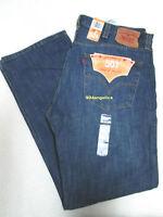 Levis 501 Button Fly Straight Leg Blue Jeans 38x32
