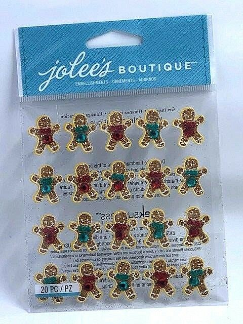 GINGER BREAD REPEATS Jolee/'s Boutique Dimensional Stickers 50-20617 christmas