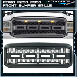 For 05 07 Ford F250 F350 New Raptor Style Front Bumper Grille Hood Package Abs Ebay