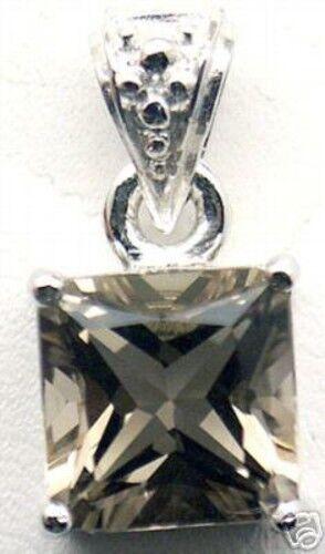 Beautiful Woman Smoky Quartz Solid Silver Pendant