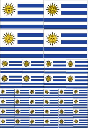 URUGUAY FLAG MULTI PACK VINYL STICKERS Various Sizes