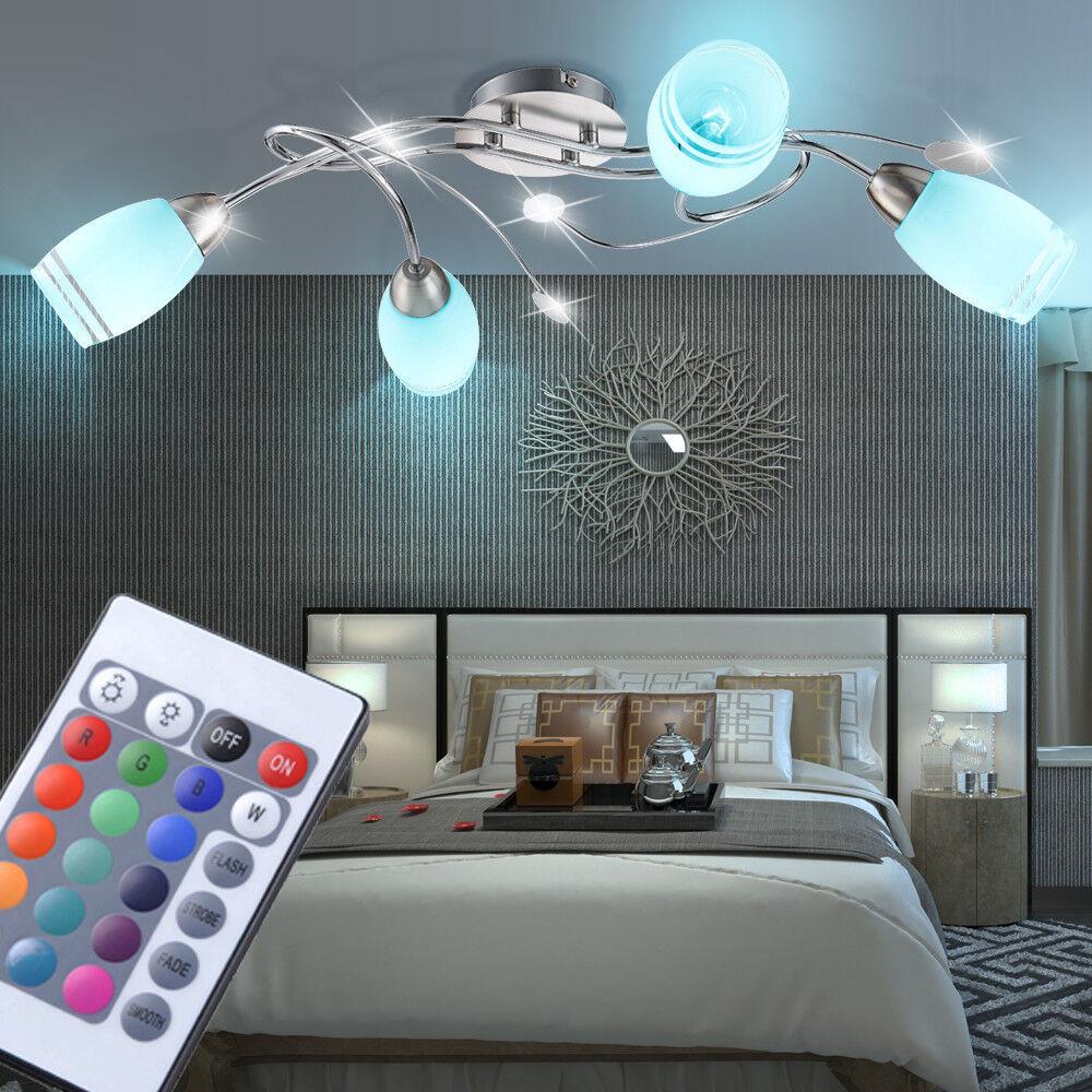risparmia il 50% -75% di sconto RGB Led Plafoniera RGB telecomando ESS stanza vetro vetro vetro dimmer lampada cromo  centro commerciale di moda