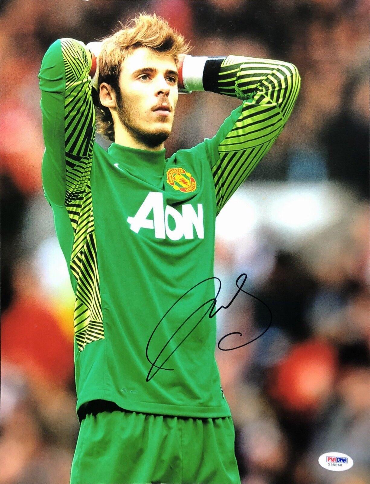 David de Gea Signed 11x14 Soccer Photo *Spain PSA X35068