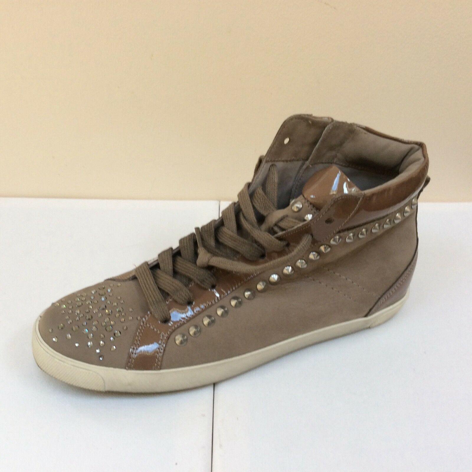 K&S taupe 38, Leder trainers with Swarovski Elements, UK 5/EU 38, taupe   BNWB f5476e