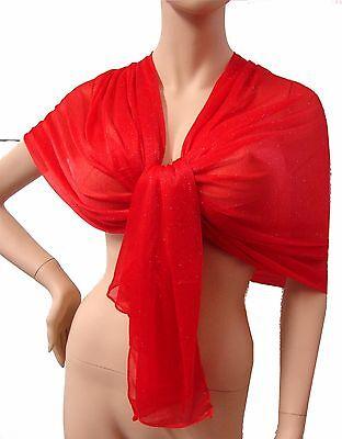 Glitter SCIARPA FOULARD collezione uomo,donna coprispalle Rosso