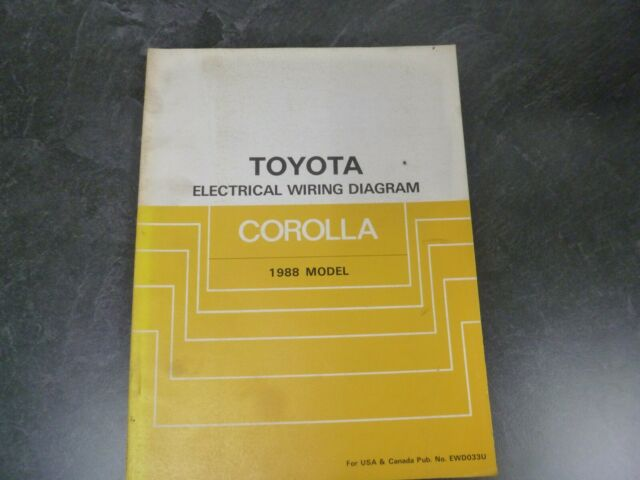 1988 Toyota Corolla Electrical Wiring Diagrams Manual Fx
