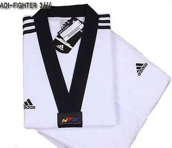 Adidas ADI-FIGHTER NEW 3-STRIPE Taekwondo Uniform (Dobok) TKD Tae Kwon Do