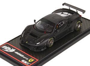 Bbr - Ferrari 488 Gt3 Noir Mat / Toit Carbone Bbrc180mb1 1/43