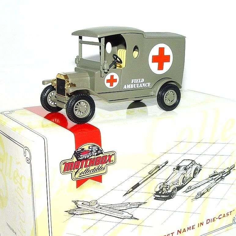 Matchbox MOY COLLECTIBLES 1912 FORD MODEL T MILITARY ARMY AMBULANCE YY012 MIB`97