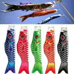 5PC-70cm-Japanese-Koinobori-Wind-Sock-Carp-Fish-Streamer-Kite-Flag-Hanging-Decor