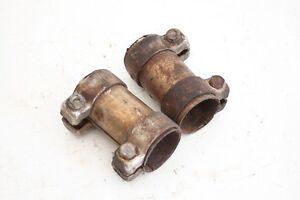 AUDI-VW-abrazadera-doble-conector-de-Tubos-Escape-357253143a-con-abrazaderas