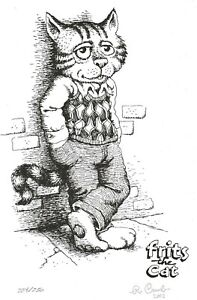 R-CRUMB-FRITZ-THE-CAT-SIGNED-AND-NUMBERED-ART-PRINT-2003-IMPORTED-FROM-HOLLAND