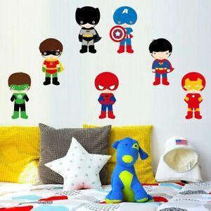 Superhero-Baby-Batman-Cartoon-Wall-Sticker-Nursery-Kids-Room-Vinyl-Decal-Decor