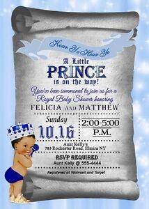 Prince baby shower invitations baby boy shower invitations royal image is loading prince baby shower invitations baby boy shower invitations filmwisefo
