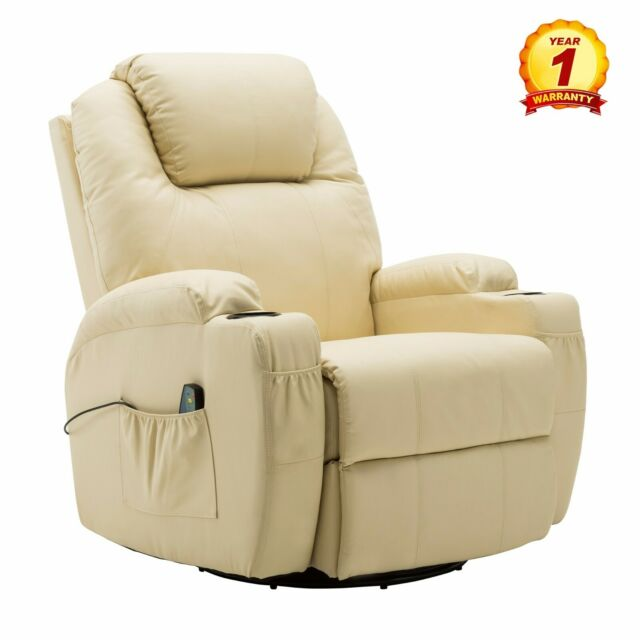Phenomenal Modern Massage Recliner Chair Sofa Pu Leather 360 Degree Swivel Rocker White Gmtry Best Dining Table And Chair Ideas Images Gmtryco