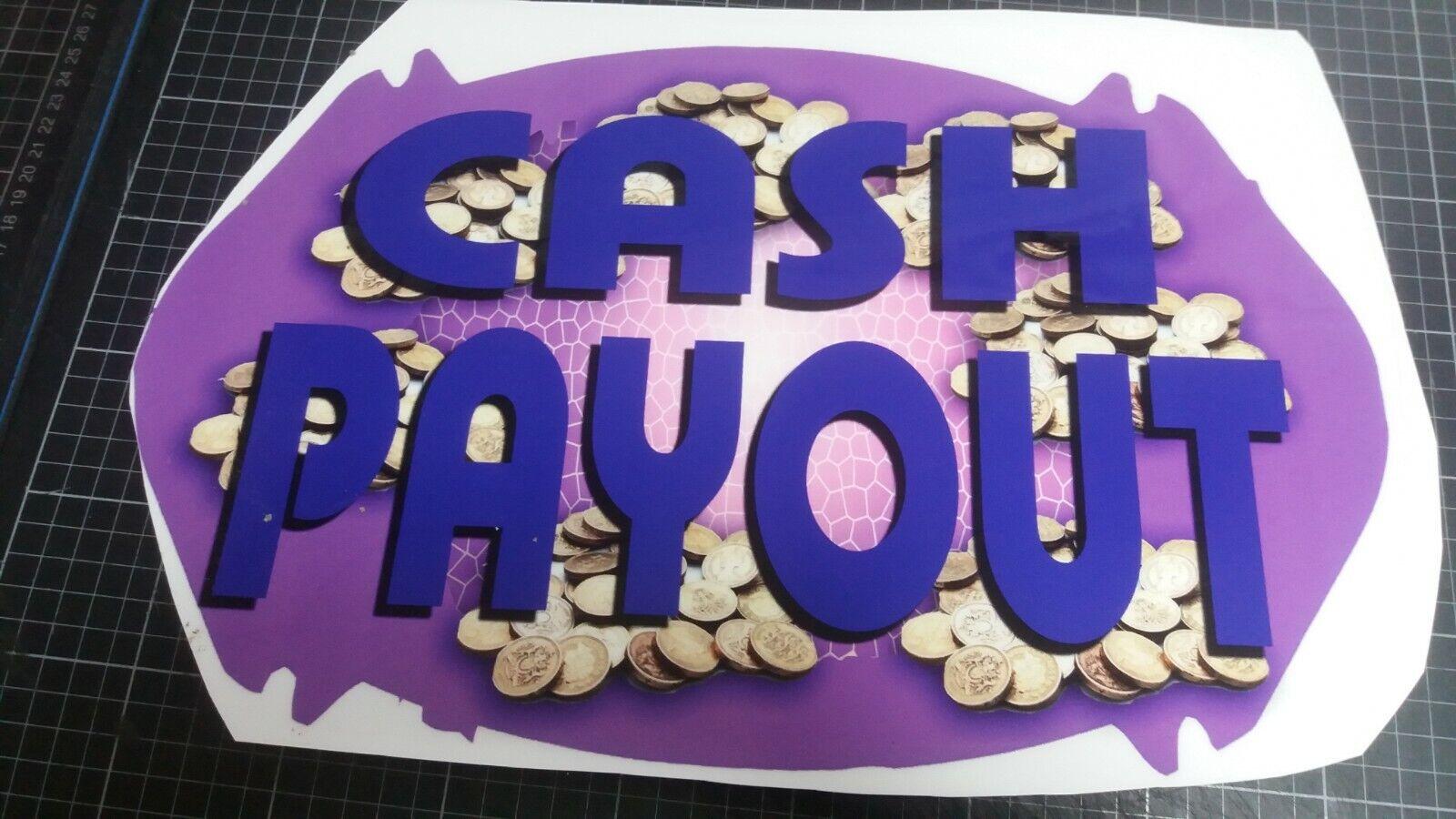 Obsolete Cash Payout Fruit Machine Decal 42cm x 27cm,Wall Art.