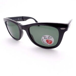 a4fbe723bdf14 Ray Ban 4105 Wayfarer Folding 601 58 Black Polarized Green Authentic ...