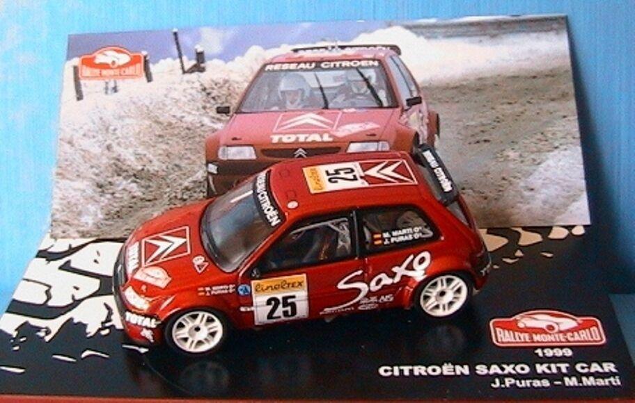 CITROEN SAXO KIT CAR  25 RALLYE MONTE CARLO 1999 PURAS MARTI IXO 1 43 ALTAYA