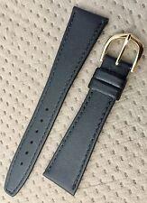 Vtg Band-it Genuine Leather 20mm Black Watch Strap New!!!