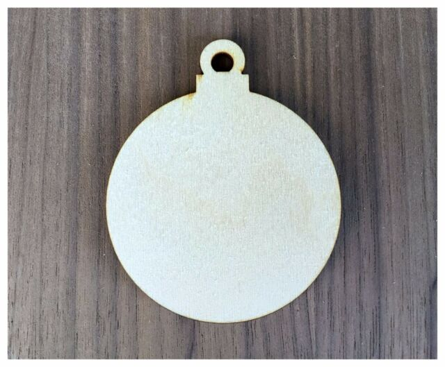6 pieces unfinished wood laser cut christmas ornament shapes round ornaments