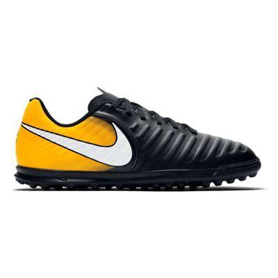 Nike Junior tiempox RIO iv (TF) Astro Turf Trainer - schwarz/laser Orange