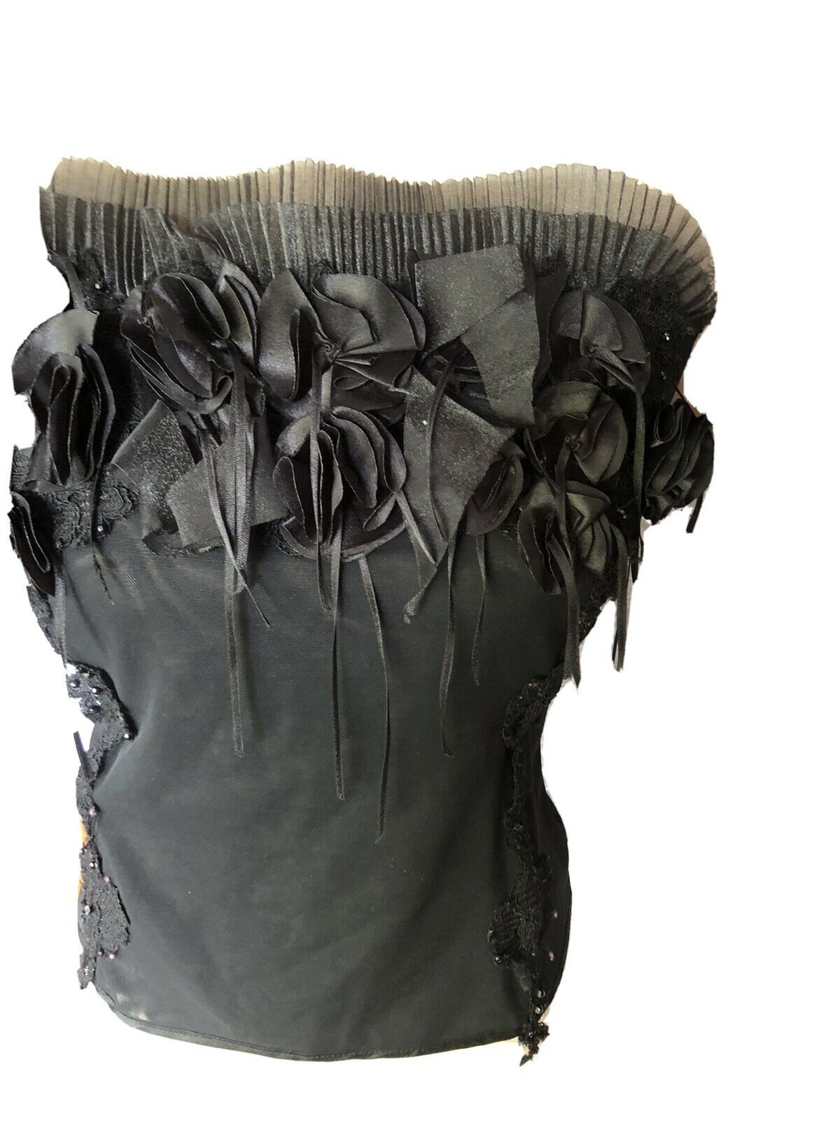 Sexy Black Lace Bustier Corset Top - image 1