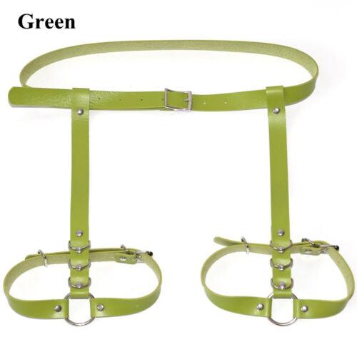 Ring Waist Leg Thigh Suspenders Body Harness Belt Garter Belt Strap PU Leather