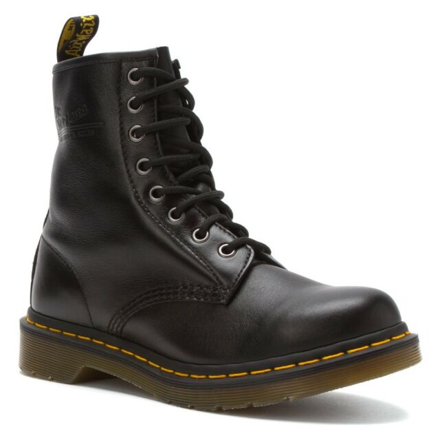 Women's Dr Martens 1460 Womens 8 Eye LaceUp Boot Black Nappa Leather 11821002