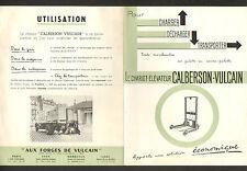 """PARIS (I°) USINE de CHARIOT de MANUTENTION CALBERSON """"AUX FORGES DE VULCAIN"""""""