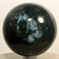 60mm Rich Green Blue Moss Agate Sphere Colorful Natural Mineral Stone - India
