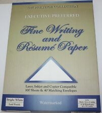 Resume Paper and Fine Writing - 100 Sheets 26 Lb and 40 Envelopes - Bright White