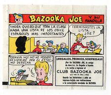 Bazooka Joe Spain Rare Spanish Text large size Wax wrapper comic 1970s