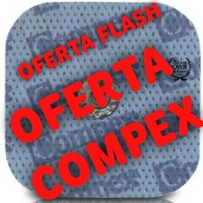 8 x Electrodo/Parche Electroestimulador Compex 100%  Easy-Snap 5x5cm Dura stick!