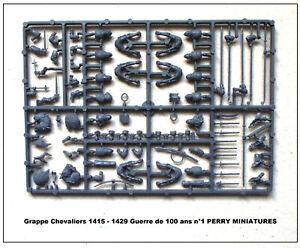 1415-1429 Figurines 28mm plastique PERRY MINIATURES Grappe Chevaliers montés