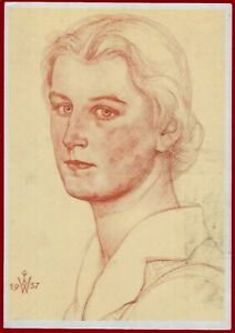 German WW 2 Third Reich Artist Postcard Willrich Wolfgang